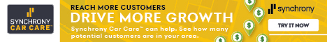 Synchrony Car Care Cardholders banner ad